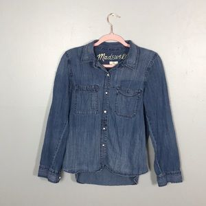 MADEWELL button down denim top